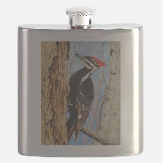 Cute Woodpecker Flask
