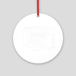 X100_white Round Ornament