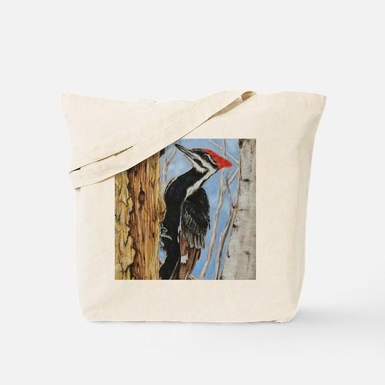 Cute Woodpecker Tote Bag