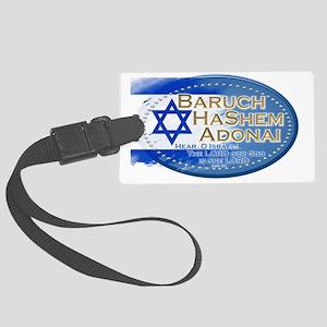 Hear O Israel Large Luggage Tag