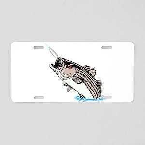 striper on a spoon Aluminum License Plate