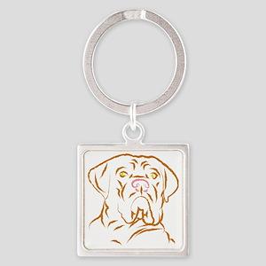 mastifflarge Square Keychain