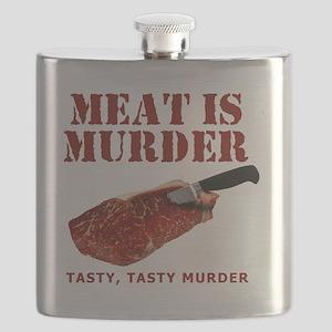 Meat is Murder Tasty Tasty Murder Flask