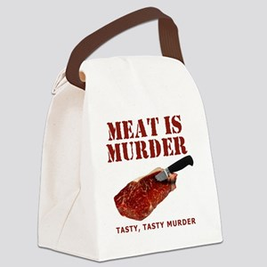 Meat is Murder Tasty Tasty Murder Canvas Lunch Bag