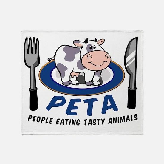 People Eating Tasty Animals Throw Blanket