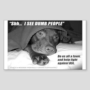 American Pit Bull Terrier Sticker (Rect.)