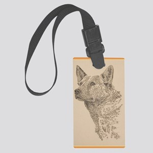 Australian_Cattle_Dog_KlineY Large Luggage Tag