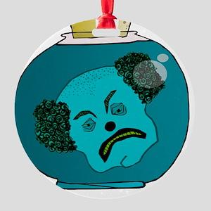 the clown jar Round Ornament