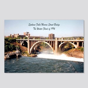 Spokane Falls Monroe St. Brid Postcards (Package o