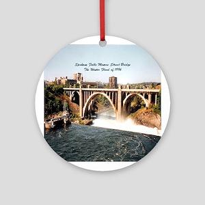 Spokane Falls Monroe St. Brid Ornament (Round)