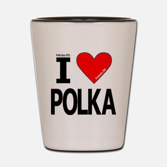 I Heart Polka Design_Revised 5 Shot Glass