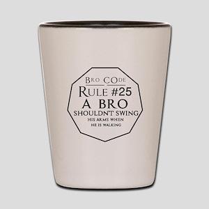 Bro-code-25 Shot Glass