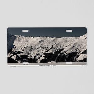 Alpbach Panoramic Aluminum License Plate
