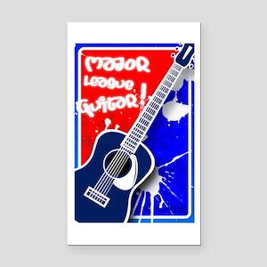Major League Guitar Rectangle Car Magnet