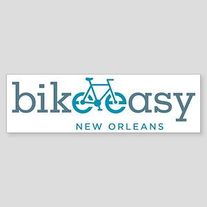 bike-easy-logo-nola-blue Sticker (Bumper)