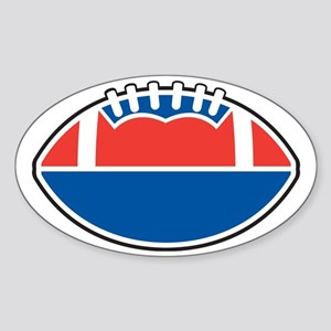 Red White and Blue Football Sticker (Oval)