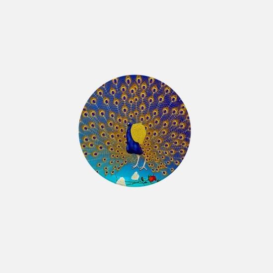 Peacock and Roses_mpad Mini Button