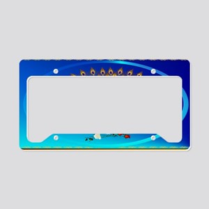 Patch2Peacock and Roses License Plate Holder