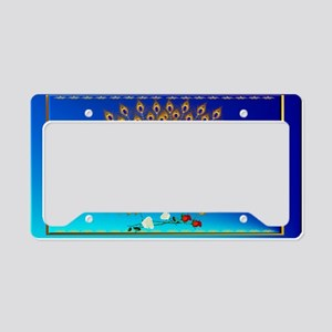 Wall Peel Peacock and Roses License Plate Holder
