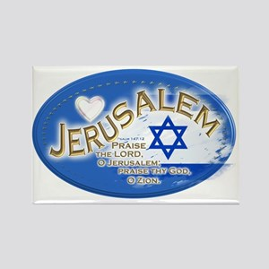 Jerusalem Rectangle Magnet