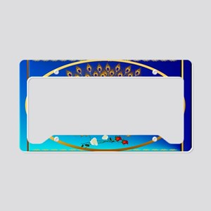 Wall Peel Peacock and Roses O License Plate Holder