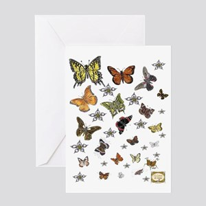 PJsButterflies2 Greeting Card