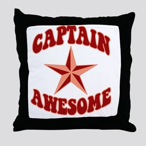 capawsome-dark-t Throw Pillow
