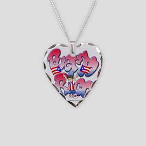 PuertoRicoGraffiti FINAL-tees Necklace Heart Charm