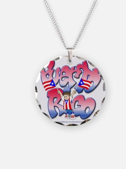 PuertoRicoGraffiti FINAL-tee Necklace
