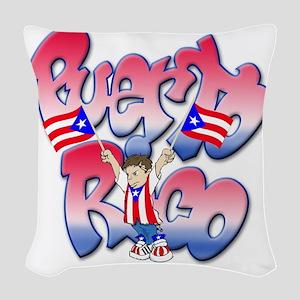 PuertoRicoGraffiti FINAL-teesh Woven Throw Pillow