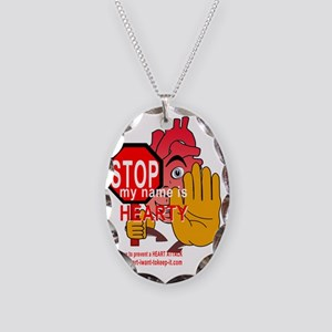 $_Hearty6_STOP Necklace Oval Charm