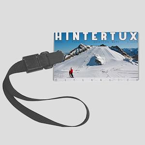 Hintertux - Geforene Wand Large Luggage Tag