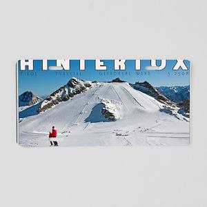 Hintertux - Geforene Wand Aluminum License Plate
