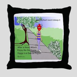 $_Walking Throw Pillow