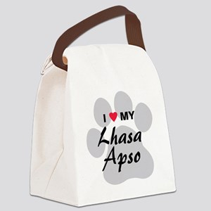 lhasa-apso Canvas Lunch Bag