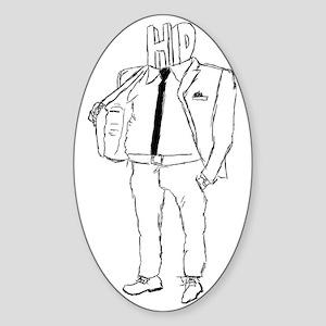 HD POSE Sticker (Oval)