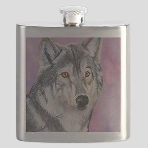 Purple Wolf Flask