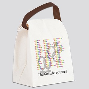 gaymarriagesymbolsstates Canvas Lunch Bag