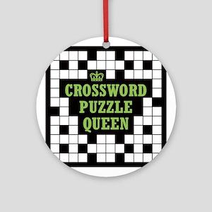 Crossword Queen Ornament (Round)