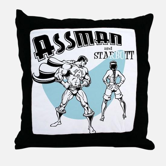 assman2-LTT Throw Pillow