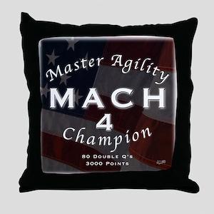 MACH 4  Throw Pillow
