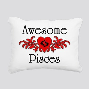 Awesome Pisces Rectangular Canvas Pillow