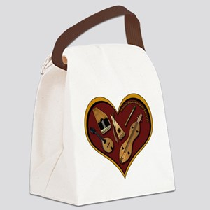 heart patch for cafe press shadow Canvas Lunch Bag