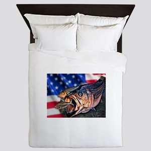 American Flag striper Queen Duvet