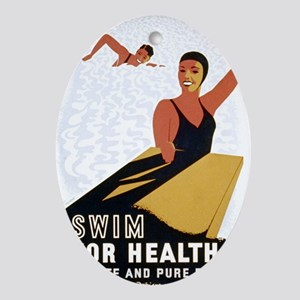 Swim Oval Ornament