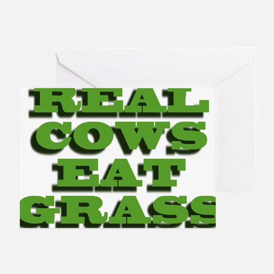 Real Cows Eat Grass Greeting Card