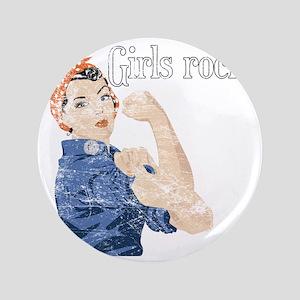 """girls rock 3.5"""" Button"""