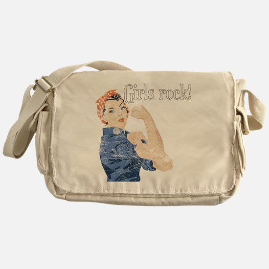 girls rock Messenger Bag