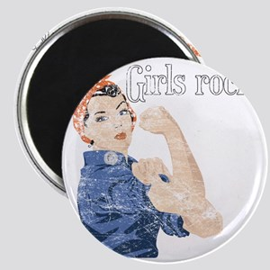 girls rock Magnet