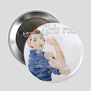 """girls rock 2.25"""" Button"""
